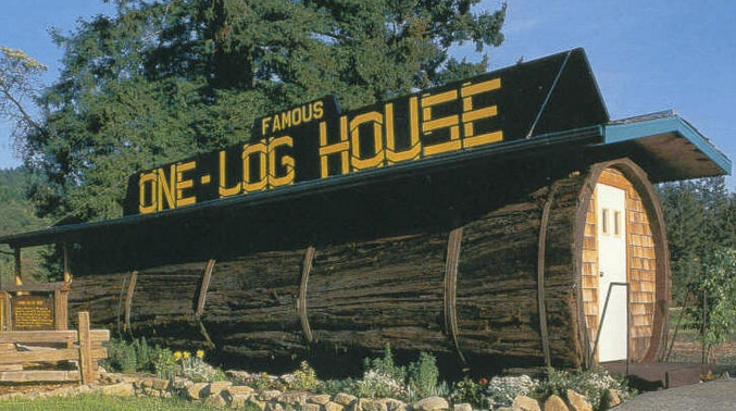 The Famous One Log House Buy Redwood